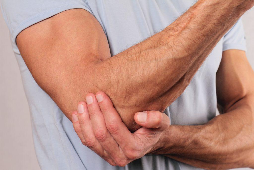 ligos alkūnės sąnario pusės sąnarių skausmas po tempimo ant gijų