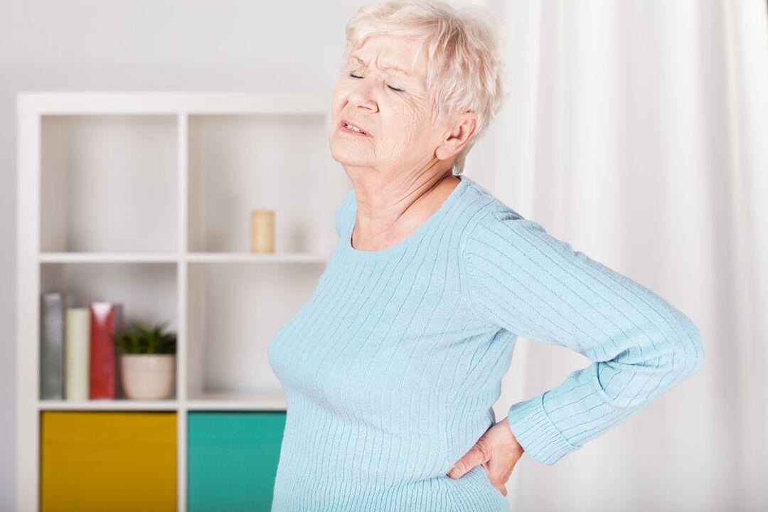 tepalas nuo osteochondrozės apatinėje nugaros dalyje