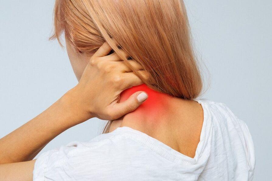 osteochondrozė kaklo mazi