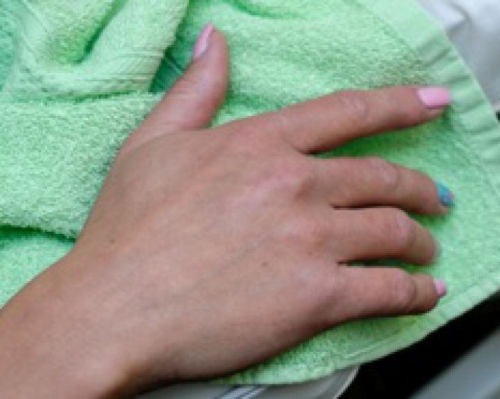 sustav tepalas rankų